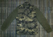 Steve Madden Camouflage Military Style Coat Sz Medium Full Zip Quilted Interior