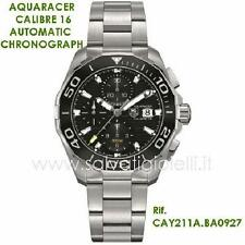 orologio TAG HEUER AQUARACER Calibre 16 AUTOMATIC CHRONO 43MM CAY211A.BA0927