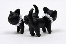 Hot 2 pcs Cute Pearl Leopard Cat Ear Studs Lady Piercing Earrings Hot Sale