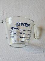 Pyrex Glass Measuring Cup Blue Print 1 Cup 250 ml Bowl w/ Handle and Pour Spout