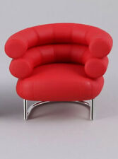 Mid Century Modern Dollhouse Chair Set 1:12 Scale Reac Red Black RARE