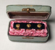 Lot of 3 Authentic Civil War Pips with padded case holder