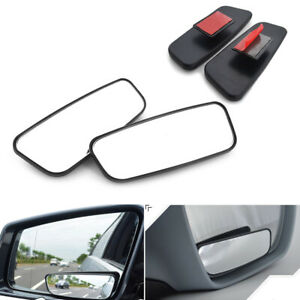 2pcs Universal Adjustable Side Car/Auto Blind Spot Wide Angle Rearview Mirrors
