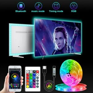 5050 LED Strip Light 12V RGB Flexible USB APP Remote Control Fairy Lamp Room TV