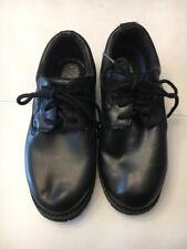 Dr. Scholl's Paul Black Leather Oil Slip Resistant 8.5W  Casual Black Shoes