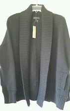 J. Crew Chunky trim cardigan sweater $128 M-L Med Large Black C2915 pockets