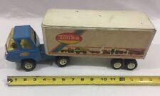 VTG Tonka Diecast Metal Semi Truck Hauler  W/ Trailer White Blue 1970s Toy USA