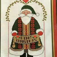 "Janlynn Collector's Series Counted Cross Stitch MERRY CHRISTMAS SANTA 9""X13"" NEW"