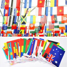 100 pcs Countries String Flag 25M International World bar party Banner Bunting
