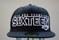 New Era Los Angeles Lakers 2010 NBA Champions Sixteen Hat Size 7 3/8