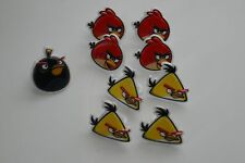 Angry Birds Cupcake Toppers Plastic Rings Party Favors Lot of 9