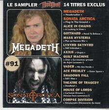 ROCK HARD FRENCH PROMO CD MEGADETH SONATA ARCTICA ALICE IN CHAINS GOTTHARD VADER