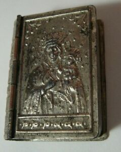 Box Icon Book Brass Silver-Plate Imperial Russia 1915