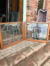 Sg 929 Two Available Price Separate Antique Leaded Glass Window