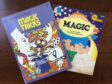 Vintage 1970's Children's Magic Tricks Books - Lot Of 2 - Vg