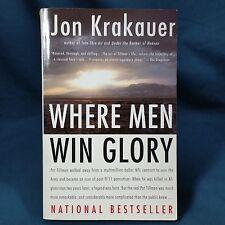 Where Men Win Glory The Odyssey of Pat Tillman by Jon Krakauer 2010 Paperback