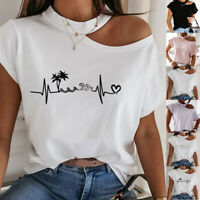 Women O-Neck Short Sleeve  Basic Tops Soild Color T-Shirt Casual Summer Blouse