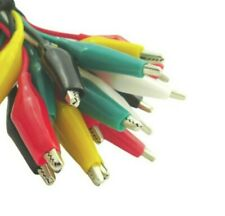 Alligator insulated Test leads. Double-Ended. Cable. Wire. 60CM. 18-24AWG