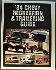 1984 Chevrolet RV Towing Brochure Car Pickup Suburban Camper Van Motor Home Orig