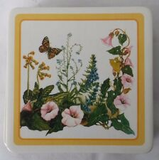 Meadow Flowers Floral Cork Back Coasters Set 6 in Box