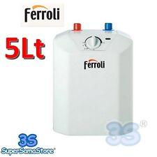 3S FERROLI NOVO 5 LT SCALDABAGNO SOTTOLAVELLO ELETTRICO SCALDA ACQUA BOILER New