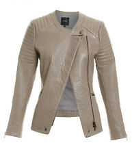 Saba women genuine natural leather jacket size 14 L  12 M new without tags
