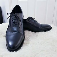 Samuel Windsor England Handmade Leather Formal Shoes Size 10 Black Mens Lace Up
