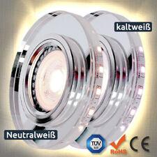 Einbaustrahler Glas Klar Rund Decko licht LED SMD GU10 MR16 230V