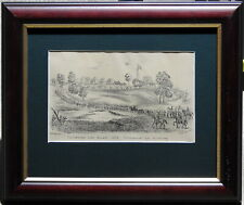 SDS Huyghue (1815-91) 1854 Original Lithograph Eureka Stockdale Troops Arriving