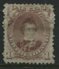 Newfoundland 1868 1 cent Prince Albert brown lilac unused no gum