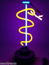 Medizin Äskulap neon sign Neonleuchte Neonlampe Leuchte Neonschild Tables signs