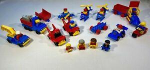 Vintage LEGO DUPLO Bundle Job Lot of Figures Vehicles Airplane Farm Animal train
