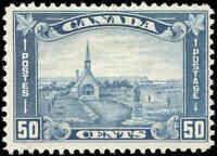 Mint H Canada 1930 F+ Scott #176 50c King George V Arch/Leaf Stamp
