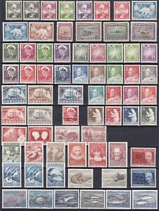 Greenland. Different stamps 1938 -1986.   Sc# - $320