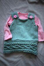 New Handmade Rita Watson Baby Cable Knit Dress 0-3 Months