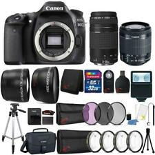 Canon EOS 80D 24.2MP DSLR Camera w/ 18-55mm and 75-300mm Lens & Accessory Kit