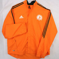 ADIDAS BAA 2007 BOSTON MARATHON Orange Bl Windbreaker Warm Up Jacket Men's 2XL