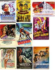 9 CARTES POSTALES D'AFFICHES DE FILMS - CINEMA