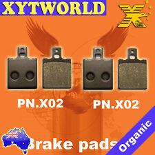 Front Rear Brake Pads for MOTO GUZZI NTX 350 1987-1990