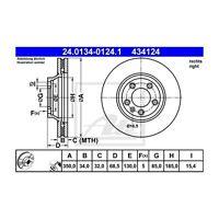 ATE 24.0134-0124.1 Bremsscheibe   für Porsche Cayenne Audi Q7 VW Touareg