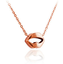 """Super Adorable! Amazing """"The Big Mouth"""" Rose Gold GP Pendant Necklace"""