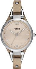 Women's Sand Fossil Georgia Leather Strap Watch ES2830