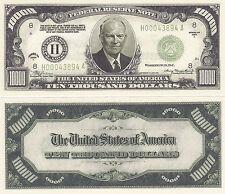 100 Eisenhower $10,000 Patriotic Novelty Bill Note Lot