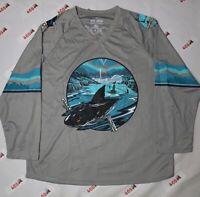 San Jose Sharks Jersey Men's Medium Gray Open Water Promo