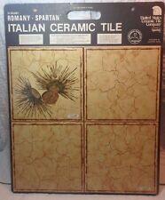 Vtg MID CENTURY ELEGANT ROMANY SPARTAN Italian CERAMIC TILE SAMPLE BOARD B761