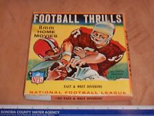 VINTAGE 8MM MOVIE FOOTBALL THRILLS NFL EAST & WEST DIVISIONS, WITH ORIGINAL BOX