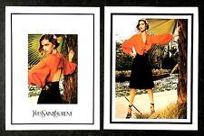 2011 UK Vogue Magazine Advert Art Pictures x 2  Yves Saint Laurent Arizona Muse