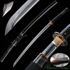 Katana Japan Samurai Sword Pattern steel + T10 Steel Kobuse Jihada Forged #2446
