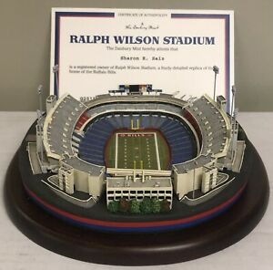 Danbury Mint Ralph Wilson Buffalo Bills Stadium Replica w/COA/BOX-FREE SHIPPING