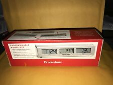 Brookstone Programmable Nameplate/clock